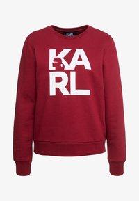 KARL LAGERFELD - SQUARE LOGO - Sweatshirt - bordeaux - 5