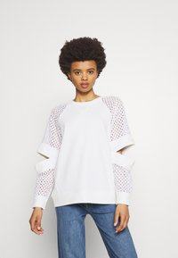 KARL LAGERFELD - CUT OUT - Mikina - white - 0