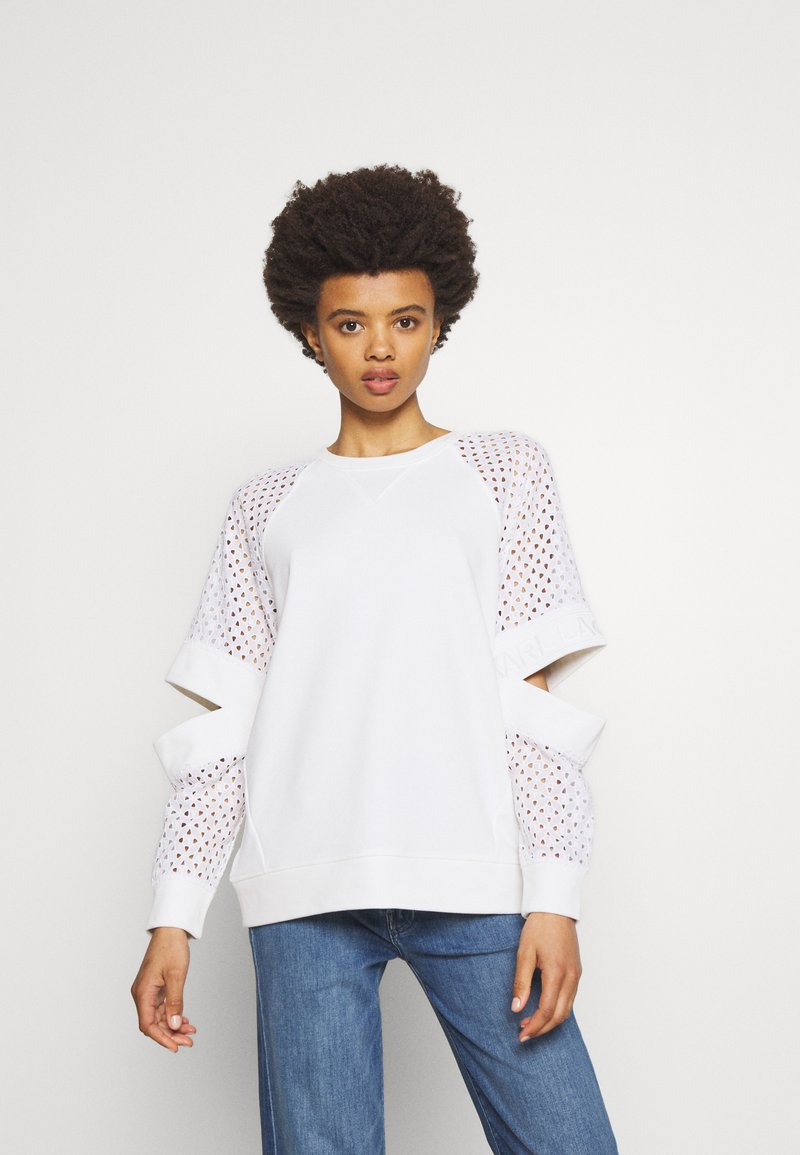 KARL LAGERFELD - CUT OUT - Mikina - white