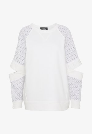CUT OUT - Mikina - white