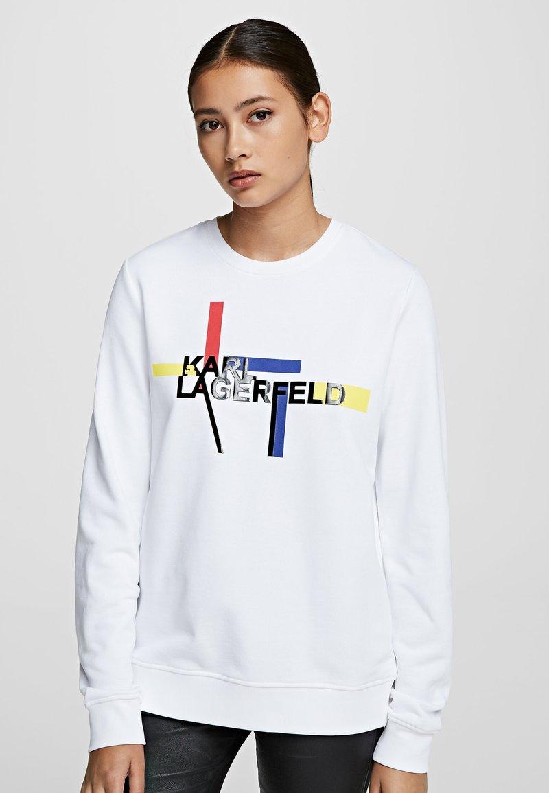 KARL LAGERFELD - BAUHAUS  - Sweatshirt - white