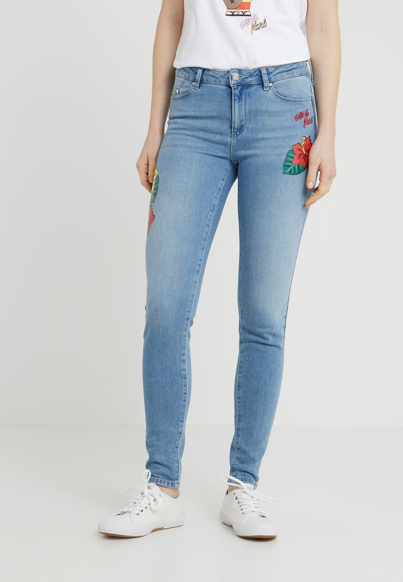 KARL LAGERFELD - HAWAII - Jeans Skinny Fit - light blue denim
