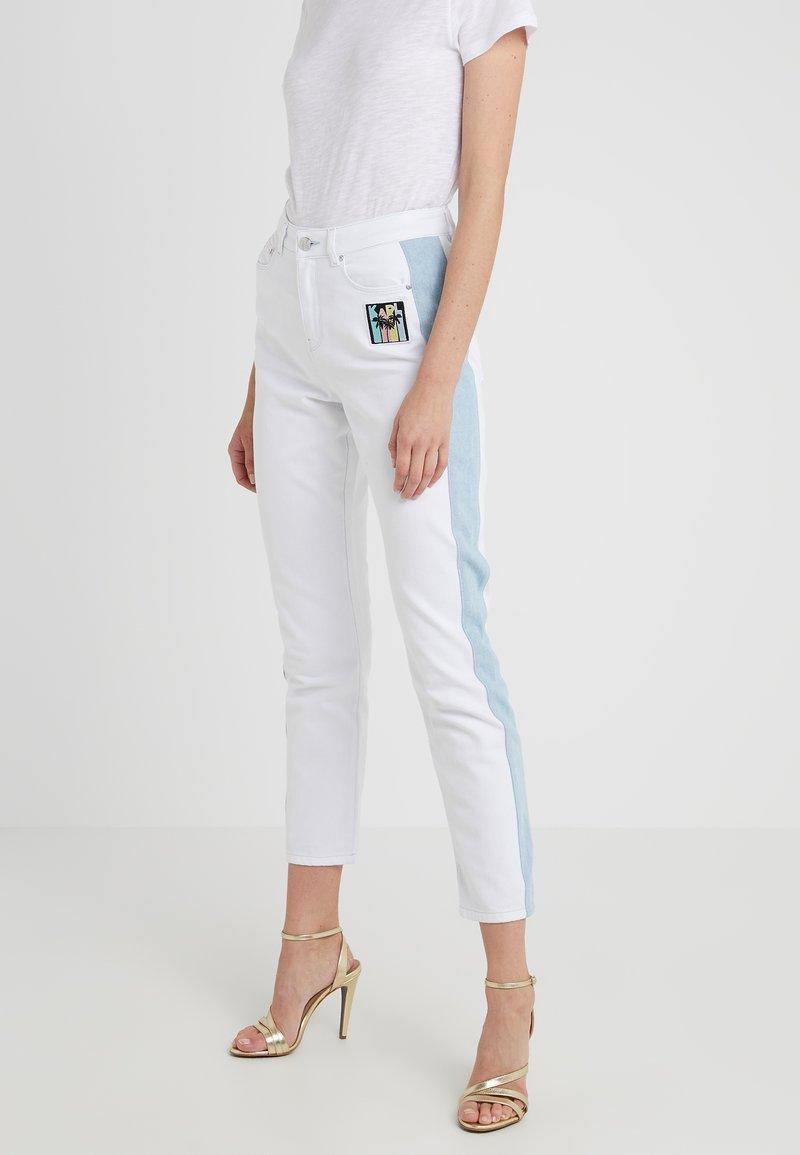 KARL LAGERFELD - KARLIFORNIA PANTS - Jeans Skinny Fit - white denim