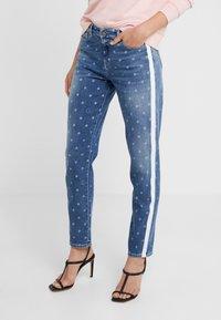 KARL LAGERFELD - DOTS - Jeans Skinny Fit - blue denim - 0