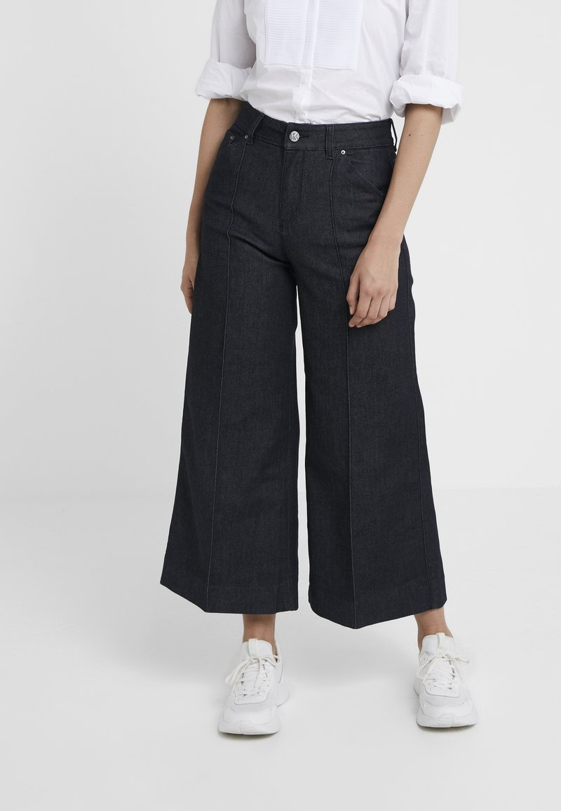 KARL LAGERFELD - TAILORED CULOTTES - Flared Jeans - blue denim