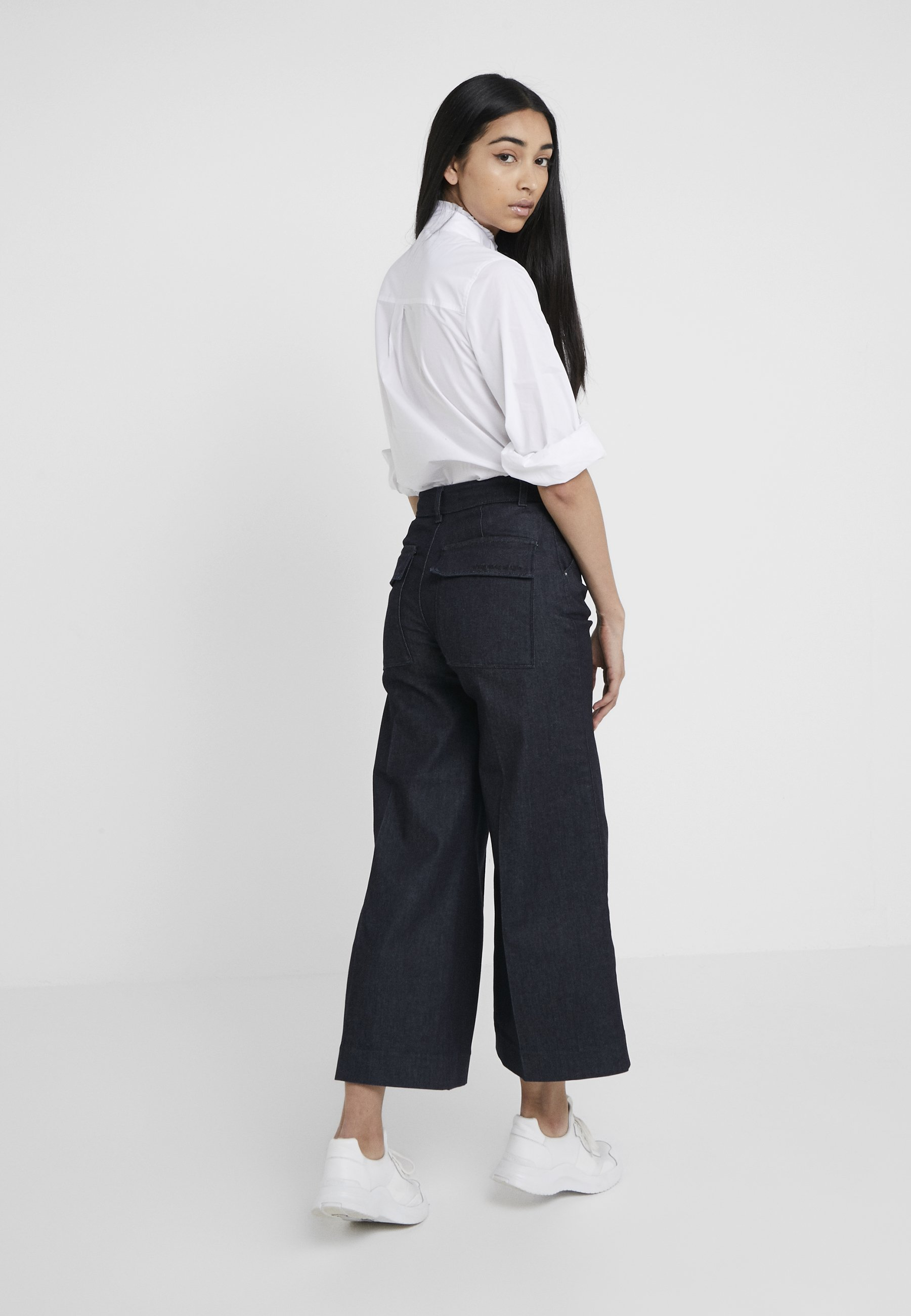 CulottesJean Blue Denim Flare Tailored Karl Lagerfeld 8vN0wmn