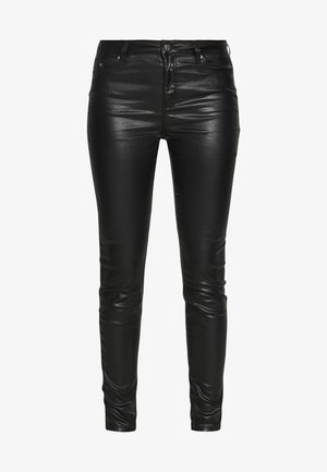 COATED - Jeansy Skinny Fit - black