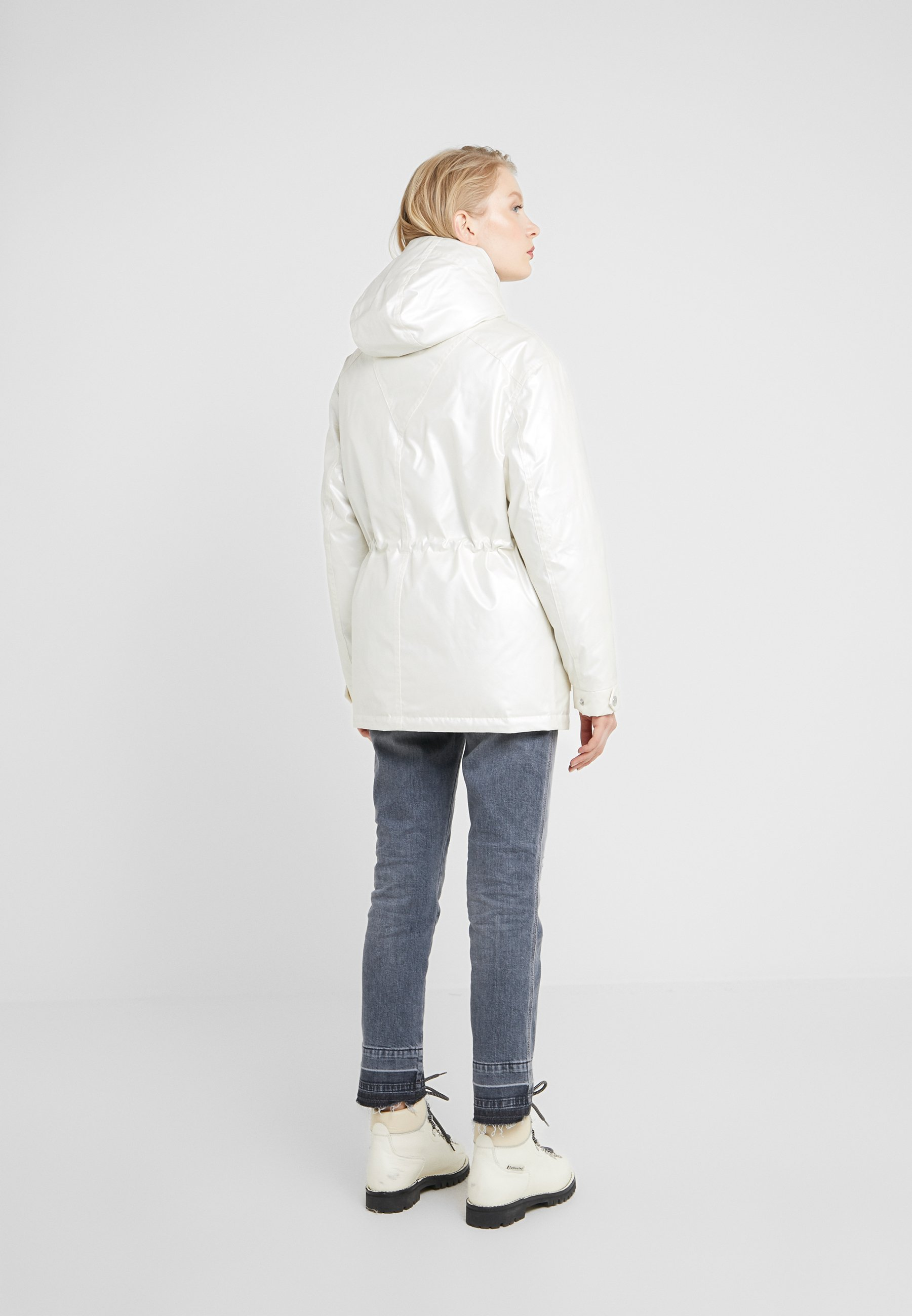 Karl Lagerfeld Technical Jacket With Hood - Donsjas Metallic Pearl DMN7gMUW