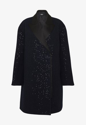 SEQUIN COAT  - Villakangastakki - navy/black