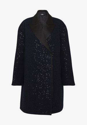 SEQUIN COAT  - Classic coat - navy/black