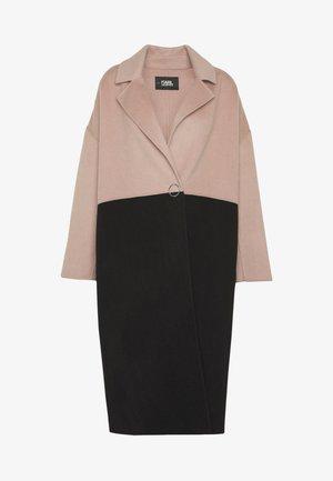 COLOURBLOCK COAT BRANDING - Manteau classique - camel/black