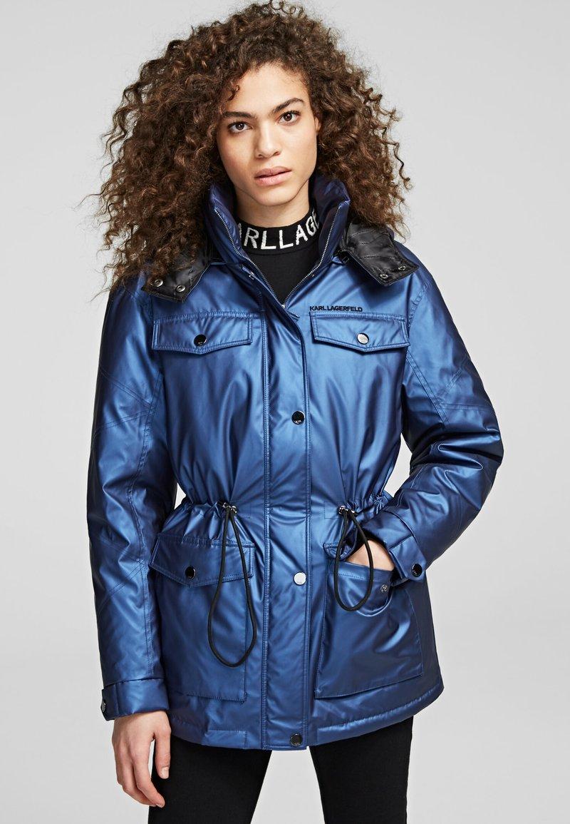 KARL LAGERFELD - Down coat - metallic blue