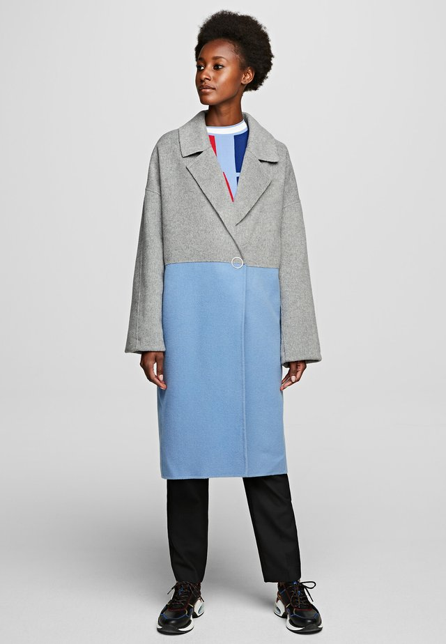 Płaszcz wełniany /Płaszcz klasyczny - light blue/grey
