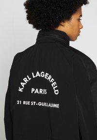 KARL LAGERFELD - RUE GUILLAUME ZIP JACKET  - Parka - black - 6