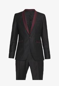 KARL LAGERFELD - SUIT FUN - Suit - black/burgundy - 10