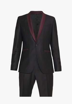 SUIT FUN - Kostym - black/burgundy