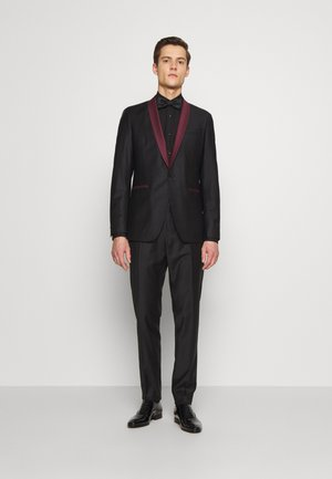 SUIT FUN - Anzug - black/burgundy