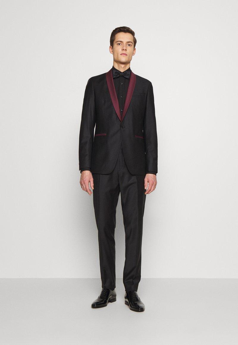 KARL LAGERFELD - SUIT FUN - Suit - black/burgundy