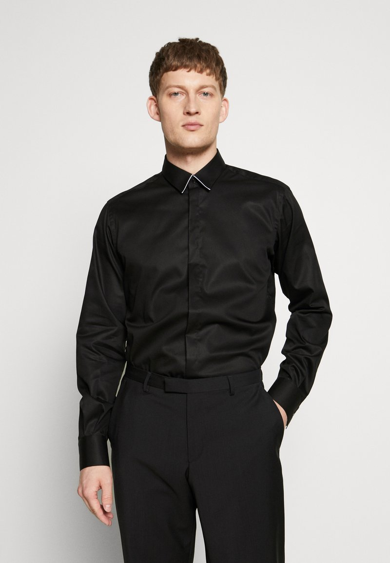 KARL LAGERFELD - MODERN FIT - Formální košile - black