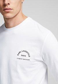 KARL LAGERFELD - KARL LAGERFELD RUE - Langærmede T-shirts - white - 4