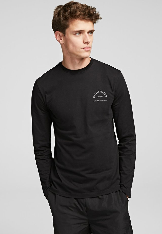 KARL LAGERFELD RUE - Langærmede T-shirts - black