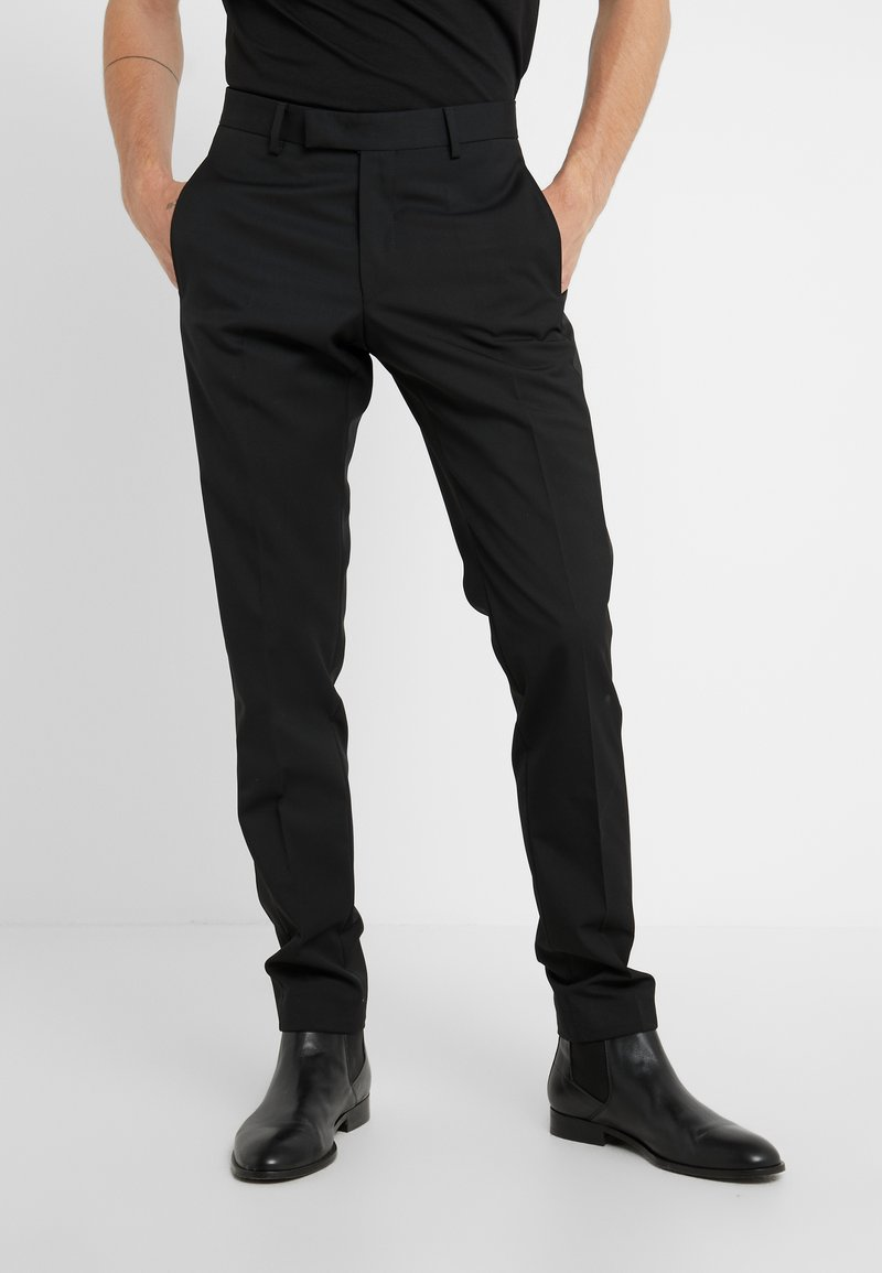 KARL LAGERFELD - TROUSERS MIDNIGHT - Trousers - black