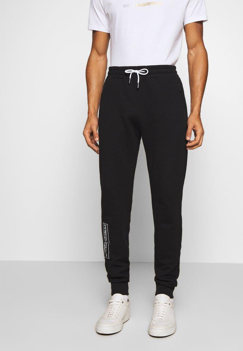 KARL LAGERFELD - PANTS - Pantaloni sportivi - black