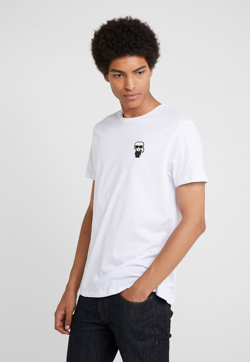 KARL LAGERFELD - CREWNECK - Camiseta básica - white