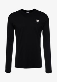 KARL LAGERFELD - LONGSLEEVE - Long sleeved top - black - 3