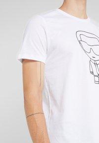 KARL LAGERFELD - CREWNECK - T-shirt imprimé - white - 4