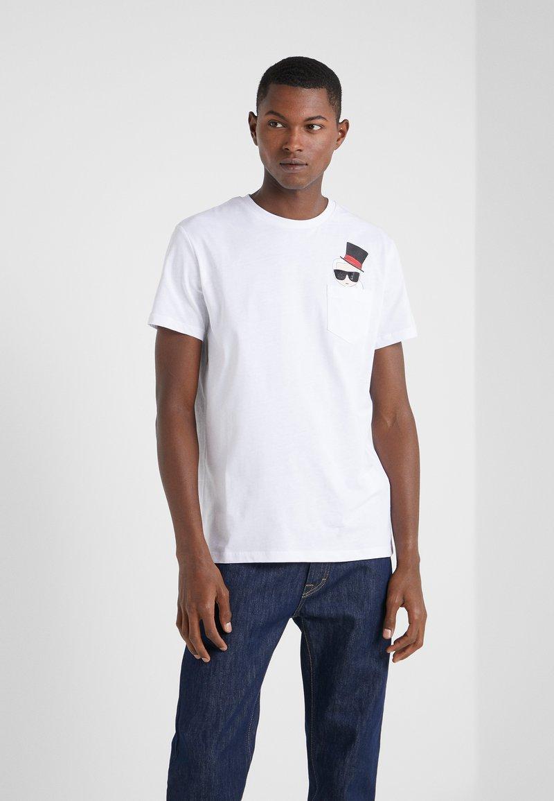 KARL LAGERFELD - CREWNECK - Camiseta estampada - white