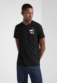KARL LAGERFELD - CREWNECK - Camiseta estampada - black - 0