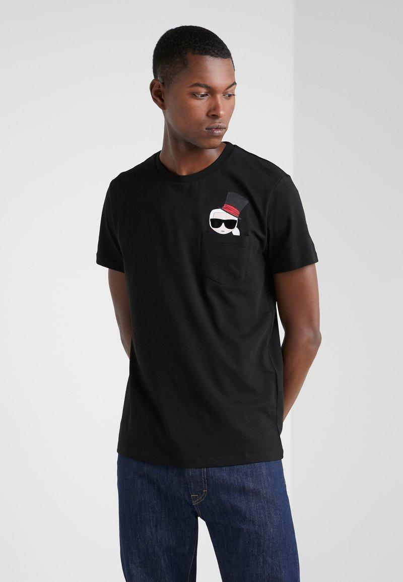 KARL LAGERFELD - CREWNECK - Camiseta estampada - black