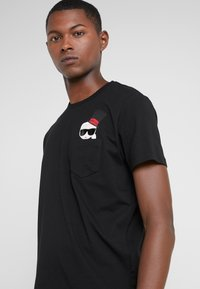 KARL LAGERFELD - CREWNECK - Camiseta estampada - black - 4