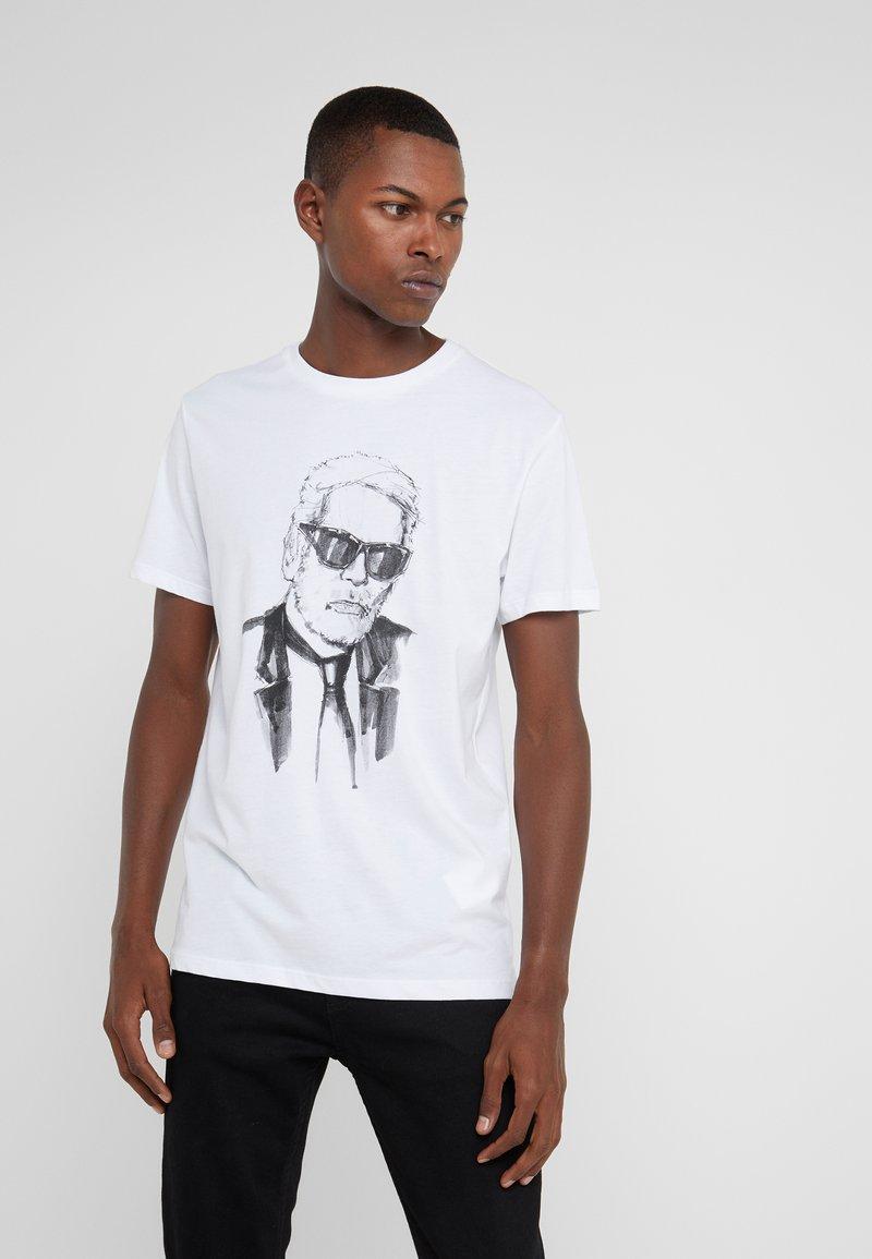 KARL LAGERFELD - Camiseta estampada - white