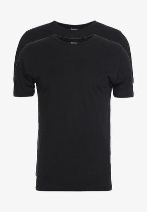 CREW NECK 2 PACK - T-shirt basique - black