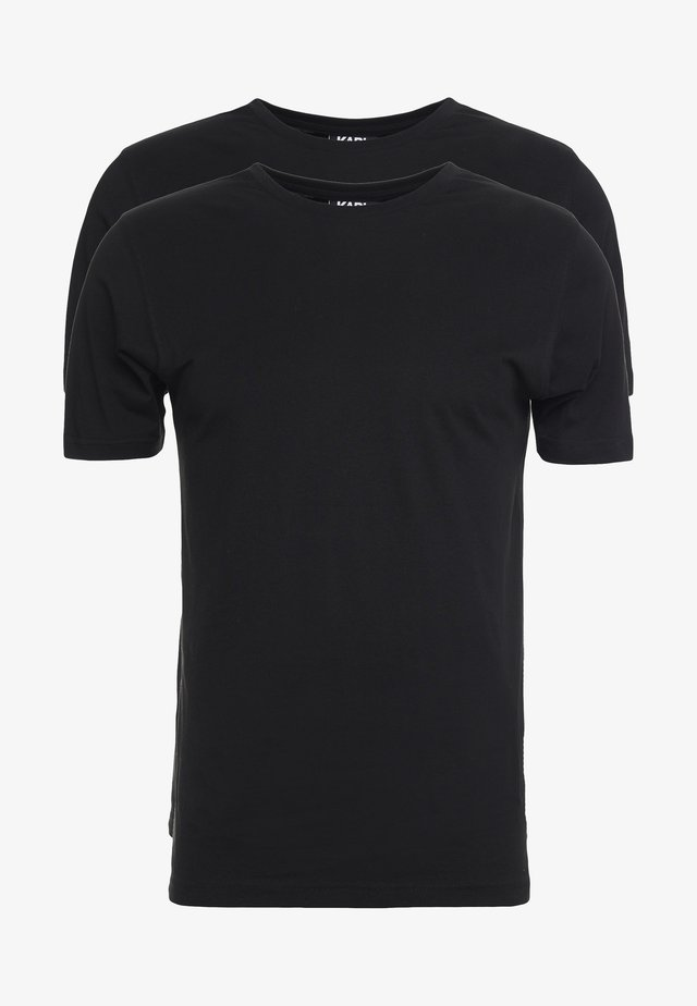 CREW NECK 2 PACK - T-shirt - bas - black