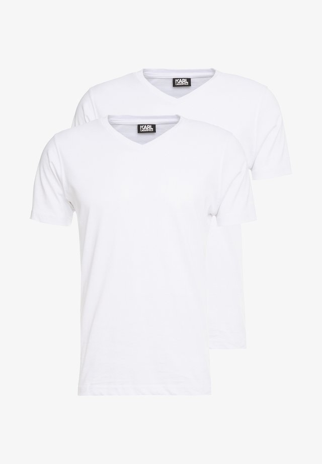 DUO 2 PACK - T-shirt - bas - white
