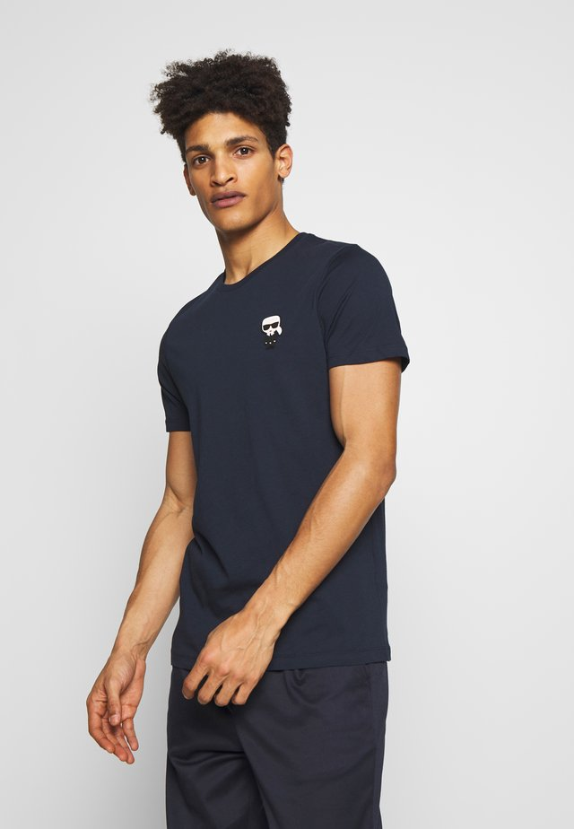 CREWNECK - T-shirt con stampa - navy