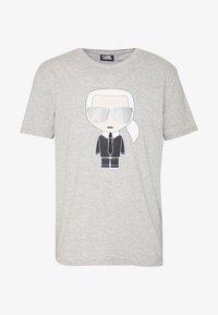 KARL LAGERFELD - CREWNECK - Print T-shirt - grey - 4