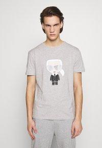 KARL LAGERFELD - CREWNECK - Print T-shirt - grey - 0