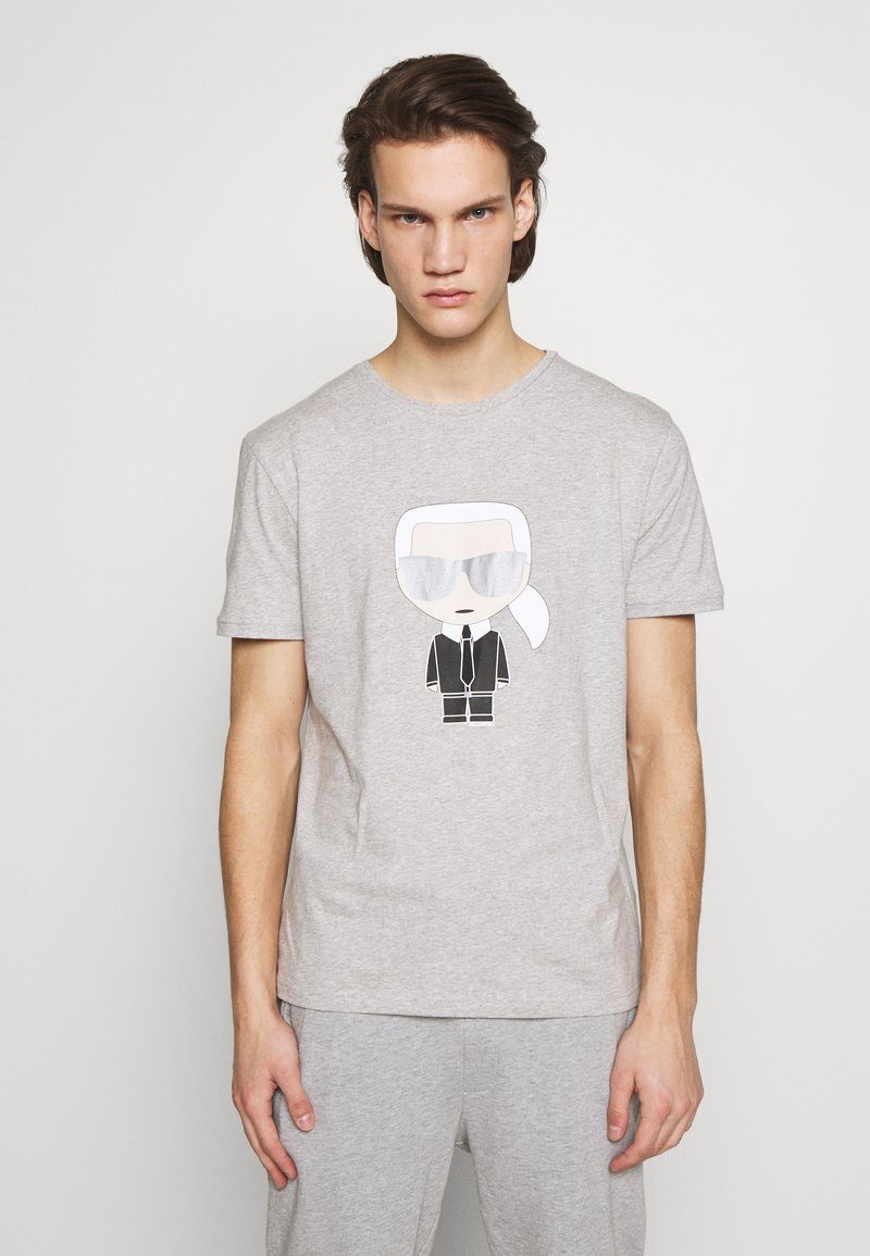KARL LAGERFELD - CREWNECK - Print T-shirt - grey