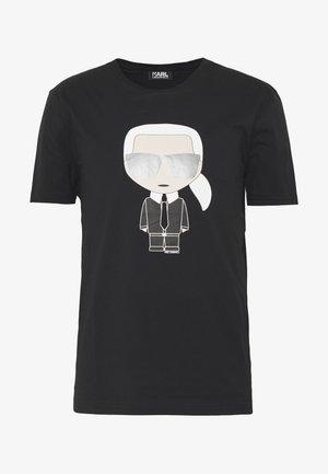 CREWNECK - T-shirt con stampa - black
