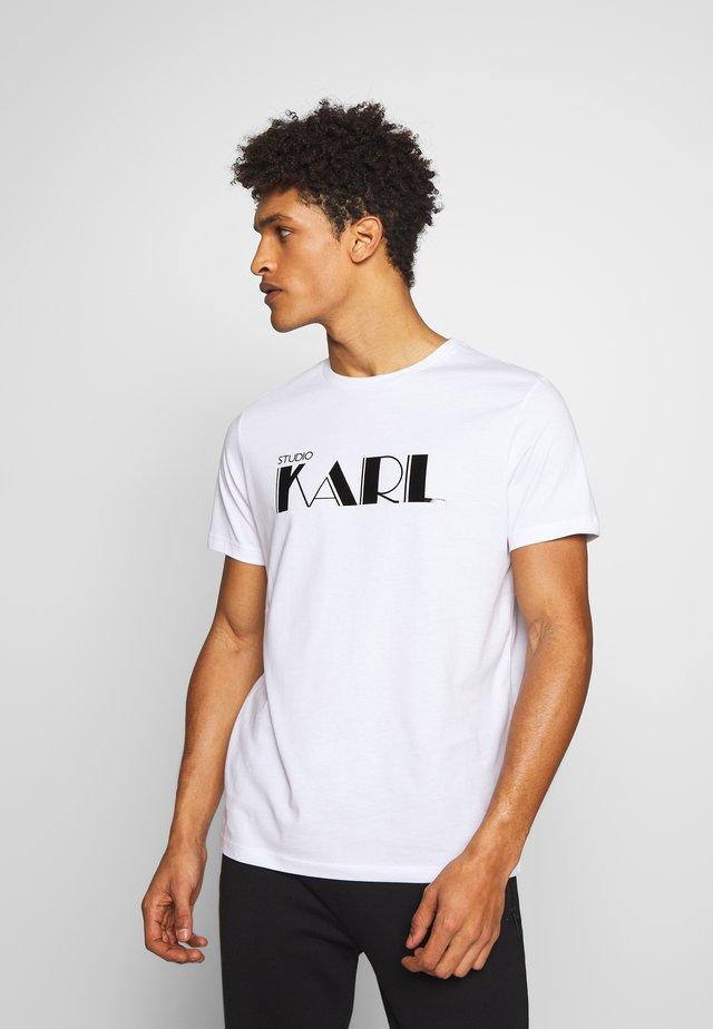 RAINBOW HOLOGRAPHIC PRINT - T-Shirt print - white
