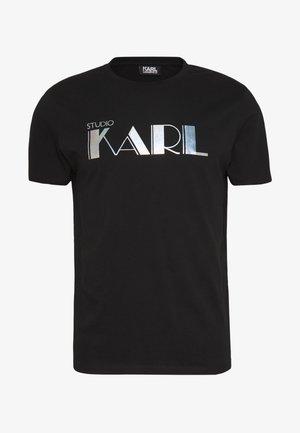 RAINBOW HOLOGRAPHIC PRINT - Print T-shirt - black