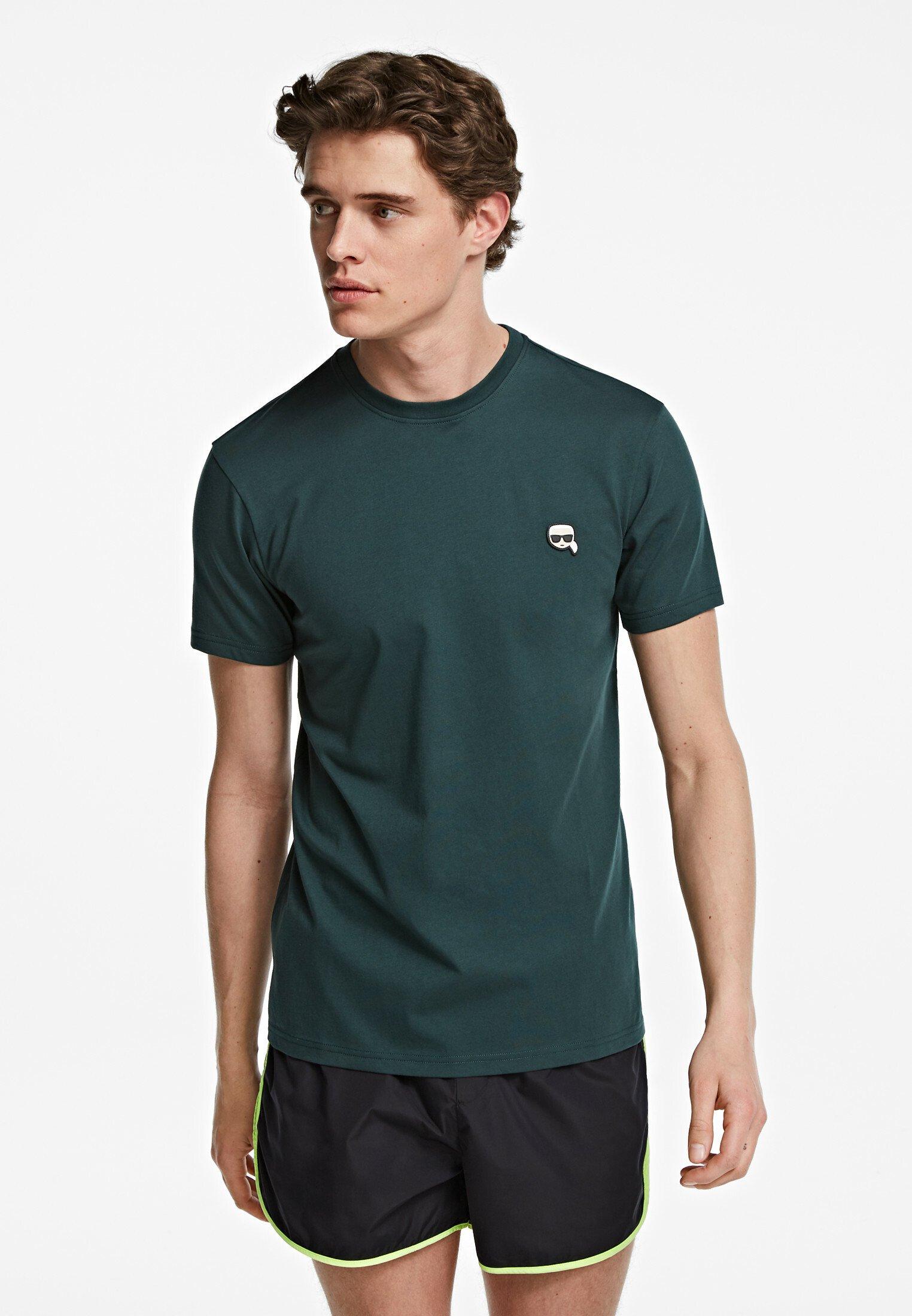 Karl Lagerfeld Ikonik - T-shirt Basic Green Gable Iokuz