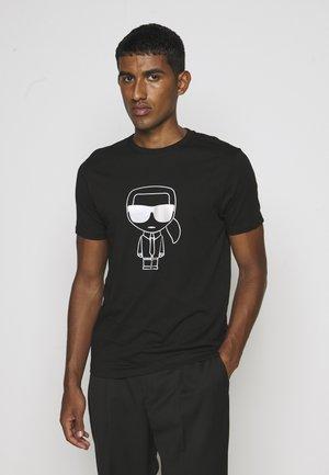 T-Shirt print - black/gold