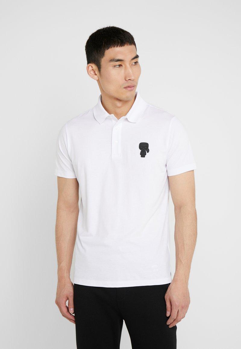 KARL LAGERFELD - POLO - Koszulka polo - white