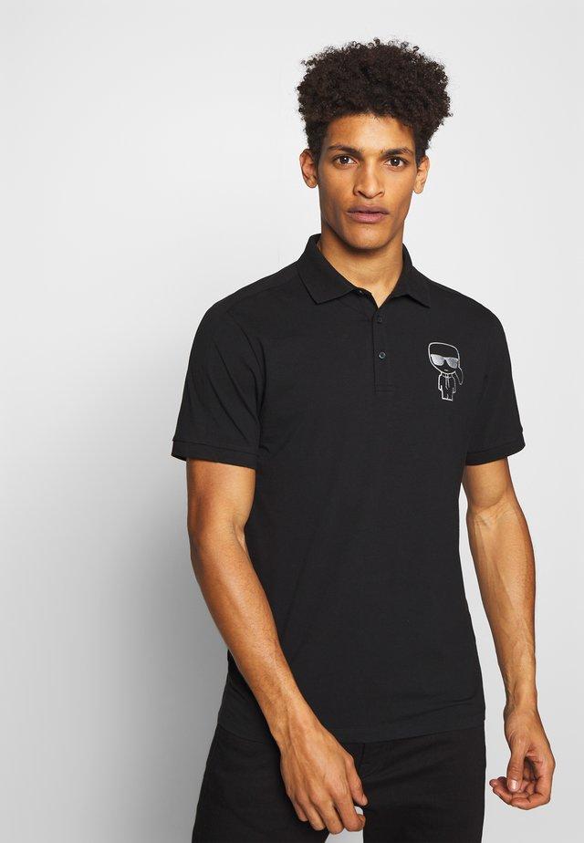 RAINBOW HOLOGRAPHIC PRINT - Poloshirt - black