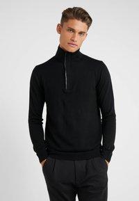 KARL LAGERFELD - TROYER - Stickad tröja - black - 0